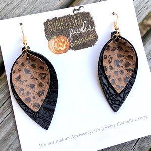 SALE ✨NEW✨Fall Leather Earrings!!